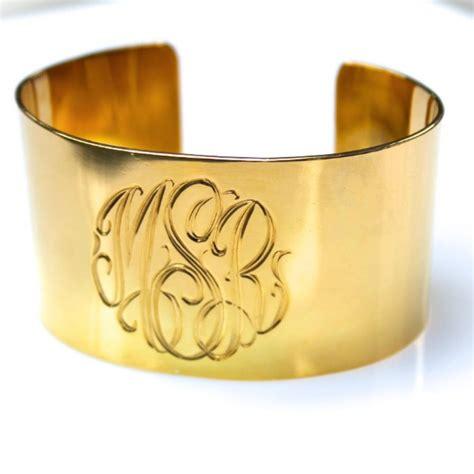 monogrammed wide sterling silver engraved cuff bracelet