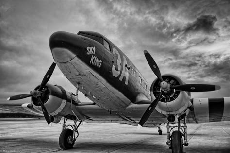 Black and White Vintage Aircraft