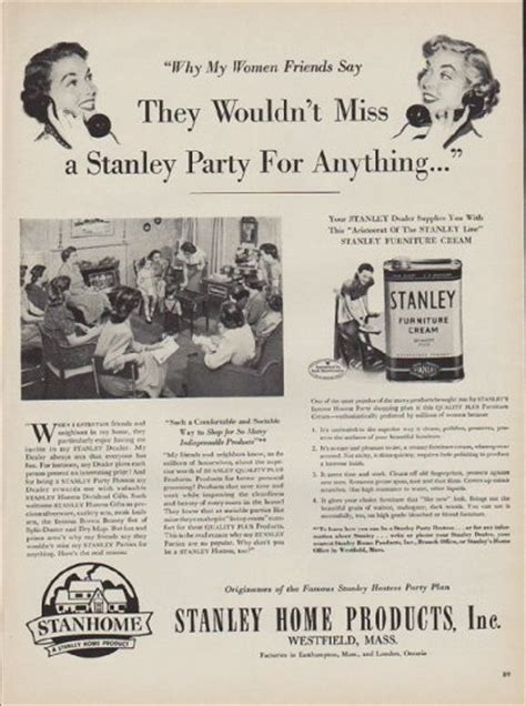 stanley home products vintage ad  women friends