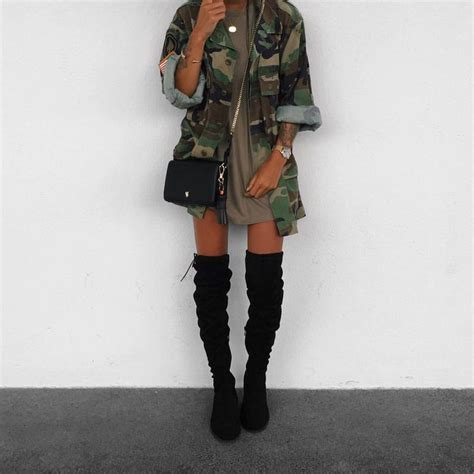 Best 25+ Army jacket outfits ideas on Pinterest | Military jacket outfits Army jacket style and ...