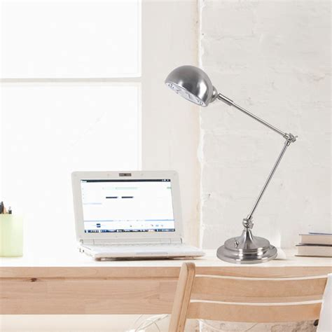 tensor halogen desk l brushed steel tensor 17974 002 19 inch gooseneck clip on
