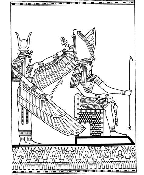 disegni da colorare degli egizi