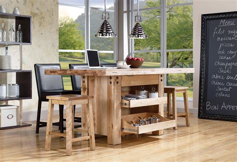 table a manger loft canadel loft custom dining customizable island table with 3 drawers belfort furniture