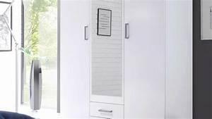 Kleiderschrank 120 Cm : kleiderschrank karl schrank in wei mit spiegel 120 cm ~ Indierocktalk.com Haus und Dekorationen