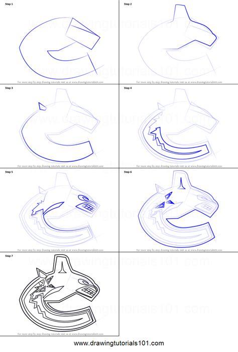 draw vancouver canucks logo printable step  step