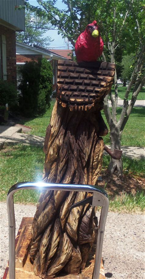 chainsaw carved bird house  rob   lumberjockscom