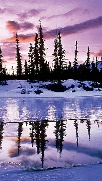 Winter Backgrounds Desktop Nature Pretty Wallpapers Scenes