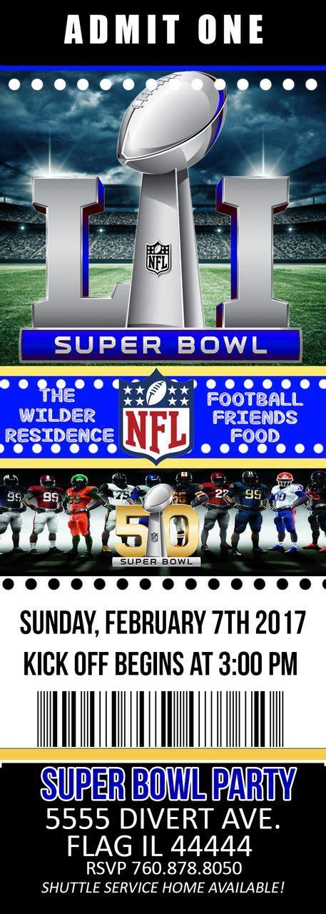 Super Bowl Party Invitation Ticket Pink Nerd Printables