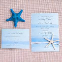 starfish wedding invitations cheap watercolor wedding invitation with starfish ewls053 as low as 2 09