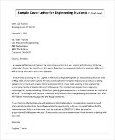 cover letter engineering internship sle