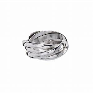 Sterling Silver 2mm Five Band Russian Wedding Ring