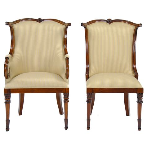 American Upholstered Dining Chairs, Set Of 10, Niagara