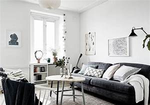 wonderful decoration salon blanc et noir ideas best With decoration interieur noir blanc gris