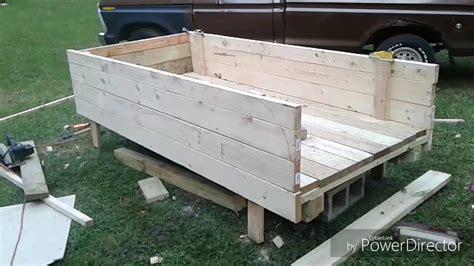 wood truck bed wooden truck bed build part 1 Diy