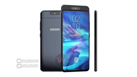 samsung galaxy a90 2019 sliding and rotating system detailed in concept concept