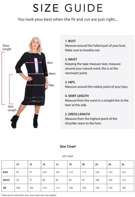 Size Guide Magazine Designer Clothing