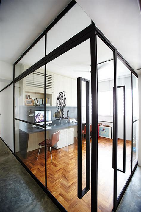 homes   full   glass partitions home