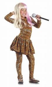 Leopard Print Bodysuit Nicki Minaj Costume Dress Child Kids Girl Rapper Rockstar | eBay