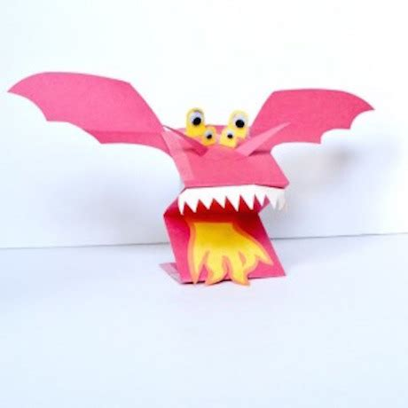 easy crafts for 480 | dragon puppet ruffles and rainboots website