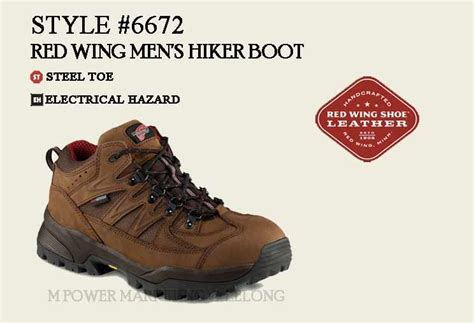 Red Wing 6672 Men's Hiker Boot Safety (end 952017 615 Pm