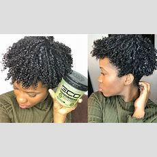 New Eco Styler Black Castor & Flaxseed Gel Wash And Go On Natural Hair Youtube