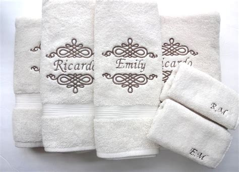 inspirations monogrammed hand towels  soft  smooth
