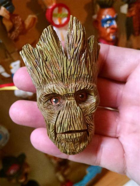 groot  chris gardea wood carving wood carving art