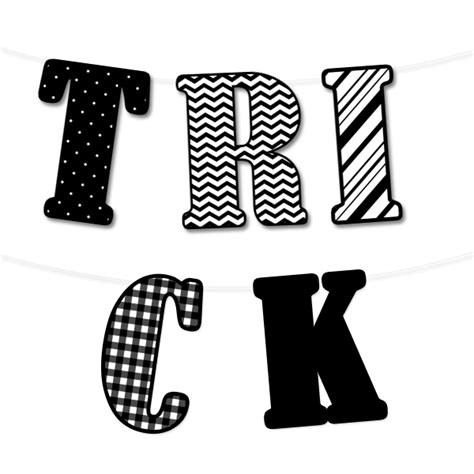 printable halloween banner letters festival collections