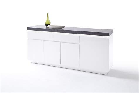 betonlook dressoir mat wit aktie wonennl