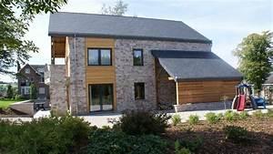 garten moy maison parement bardage pierre brique zinc With maison bois et pierre
