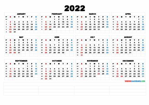 Can you believe it's already november of 2020? 2022 Free Printable Yearly Calendar (6 Templates) - Free Printable 2020 Monthly Calendar with ...