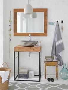 Weißer Tisch Mit Holzplatte : waschtisch mit holzplatte minimalistischer waschtisch mit weisser keramiksch ssel rustikaler ~ Bigdaddyawards.com Haus und Dekorationen