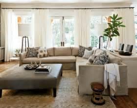 livingroom sectional linen slipcovered sectional transitional living room