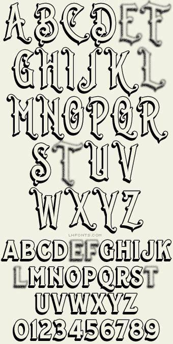 lhf whistler antique fonts lettering alphabet