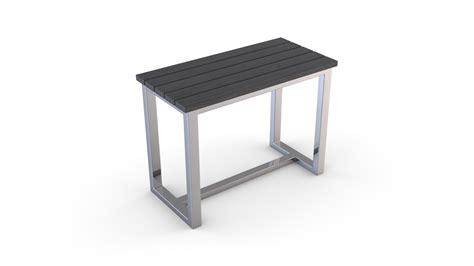 siege en bois siège en bois composite et structure en inox gris
