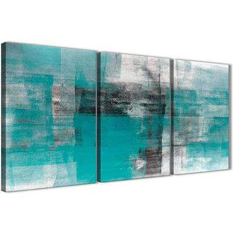 piece teal black white painting dining room canvas
