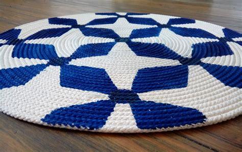 bedruckter teppich aus baumwollkordel handmade kultur