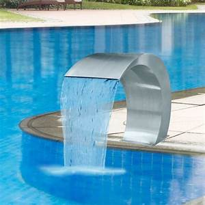 Piscine En Acier : vidaxl fontaine lame d 39 eau en acier inoxydable pour ~ Melissatoandfro.com Idées de Décoration