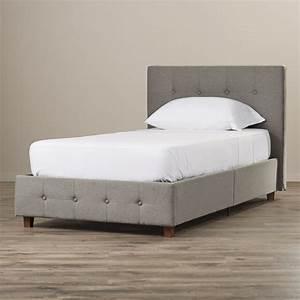 Andover mills amherst upholstered platform bed reviews for Upholstered dog bed