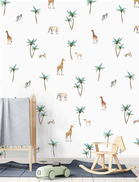 behang babykamer exotisch behang dierenbehang