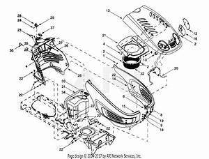 Mtd 13au604h401  1999  Parts Diagram For Hood Style  Fuel Tank