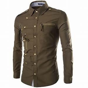 Military Style Men's Dress Shirts 99390