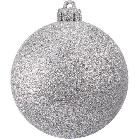 glitter baubles silver dzd