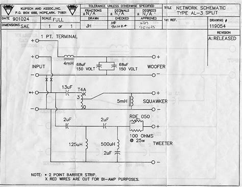 la scala wiring diagramm technical modifications the klipsch audio community
