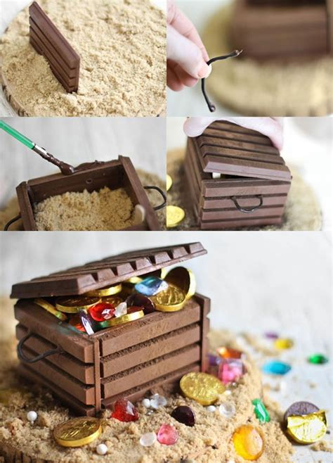 diy candy filled treasure chest pirate party  edible