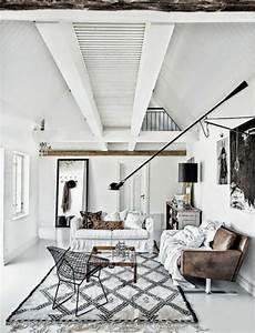 Tapis Blanc Salon : choisir le meilleur tapis scandinave avec notre galerie ~ Teatrodelosmanantiales.com Idées de Décoration