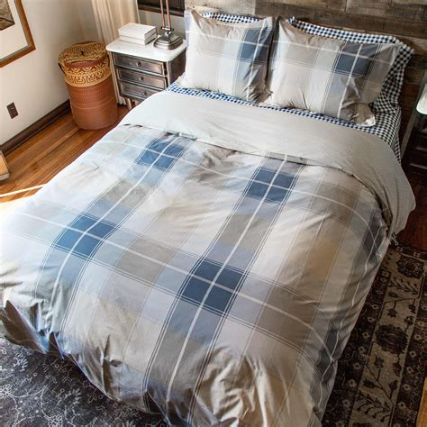 Madras Duvet by Madras Plaid Cotton Percale Duvet Cover Charcoal