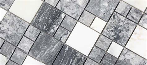 wholesale grey stone  white crystal mosaic tile sheet
