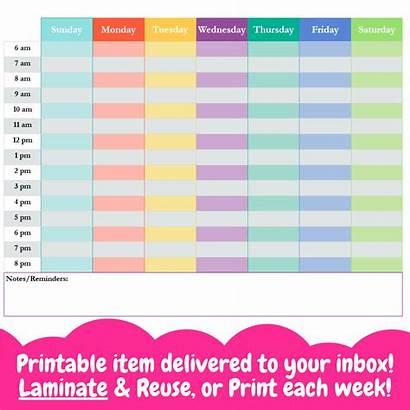 Schedule Weekly Block Printable Schedules Awake Newborn