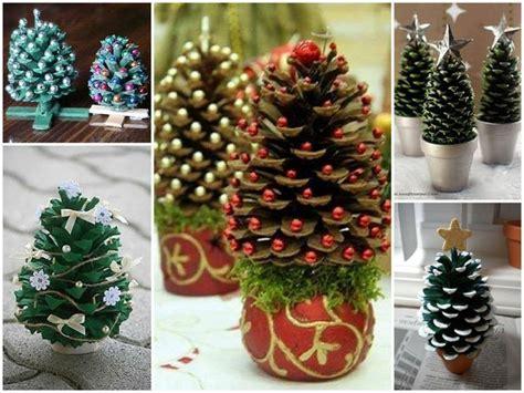 mini weihnachtsbaum basteln basteln mit tannenzapfen 50 diy ideen deko feiern diy weihnachtsdeko ideen zenideen